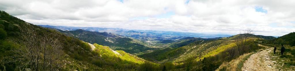 Prades, au loin, depuis le Mont Aigu
